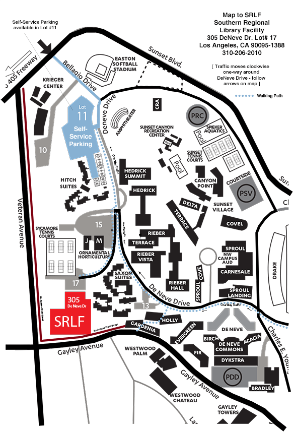 Map - SRLF - University of California Southern Regional Library Facility