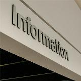 SRLF Information sign at the front entrance reception desk.