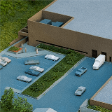 Overhead view of the original SRLF architecture model